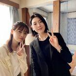 『言霊荘』西野七瀬&三吉彩花、仲良し2SHOTに「美女×美女=最高」と反響