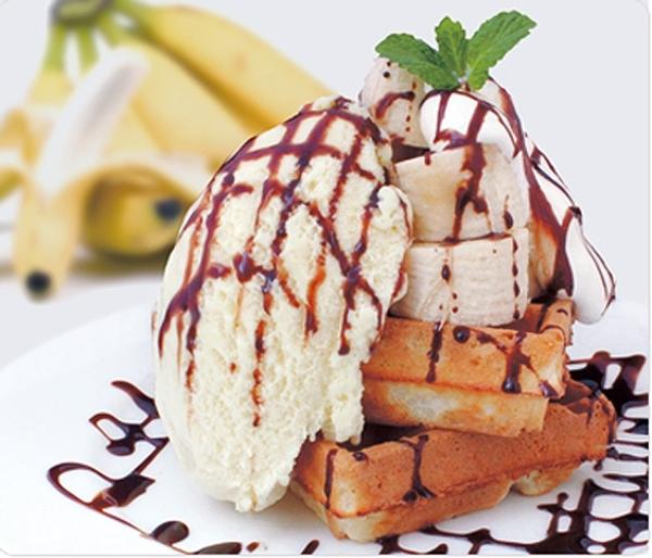 チョコレートバナナワッフル