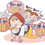 子どもを「〇〇山頂」まで持ちあげるのに匹敵!? ママのひと月の「抱っこ」の仕事量