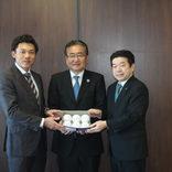 キャッチボールクラシック開催で八王子市長訪問 プロ野球選手会理事長の中日・大島選手