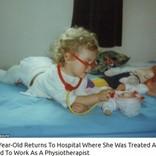 子供の頃に治療を受けた病院で、理学療法士として働く22歳女性(英)