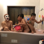 """金爆・樽美酒、甥っ子らと入浴中の""""和む写メ""""公開!"""