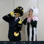 芳根京子『海月姫』被り物シーンのオフショット 松井玲奈は「近江鉄道・駅長がちゃこん」に