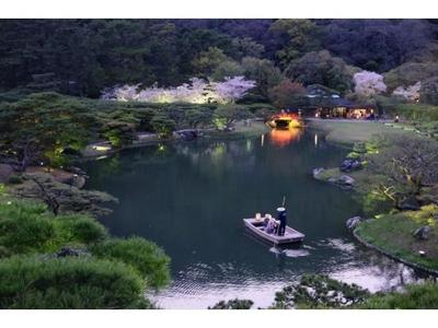 特別名勝 栗林公園春のライトアップ