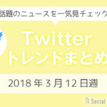 3分でチェック!Twitterトレンドワードまとめ【2018年3月12日週】