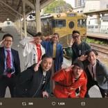 """松井玲奈も大ウケ """"鉄道BIG4""""ロケでサックス奏者・上野耕平が名演"""