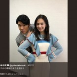北川景子の背後からひょっこり 鈴木亮平の姿に「西郷どんも姫様も素敵」