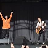 コブクロ「2人でやるってしんどいね」 ゆかりの地、福岡・天神シークレットライブに3,800人集結