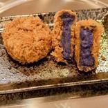 奈良のとんかつ店「青いコロッケ」「黒いコロッケ」を発売