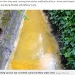 インド料理店からの排水で川がカレー色に しかし原因は意外なところにあった(英)