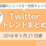 3分でチェック!Twitterトレンドワードまとめ【2018年5月21日週】
