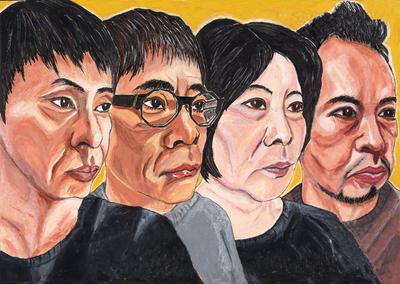 メインビジュアルには大倉孝二が描いた4人の横顔の絵が採用された。「見事だね。すごい熱量を感じる。何に対する熱量かは分からないけれど、むやみな熱量がある」と、いとうせいこうも絶賛。
