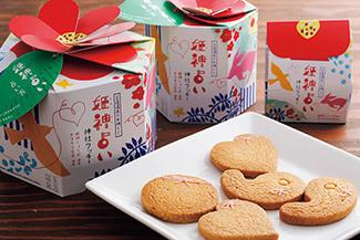 姫神占い 神社クッキー 5枚入り540円