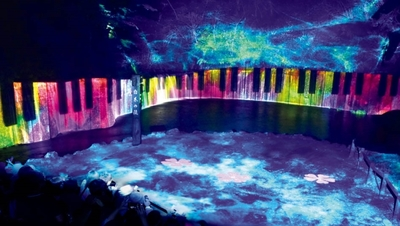白糸の滝ライトアップ&イリュージョン2018