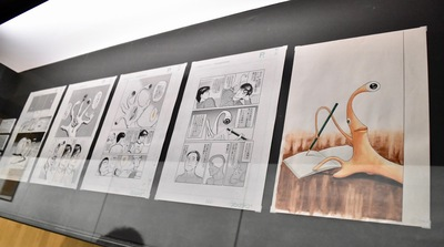 岩明均 『寄生獣』(原画)1990-1995年 ペン、インク、スクリーントーン/紙