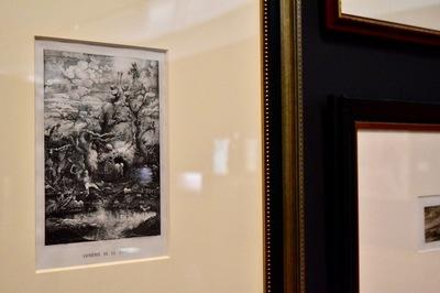 左:ロドルフ・ブレスダン 《死の喜劇》1854年 岐阜県美術館