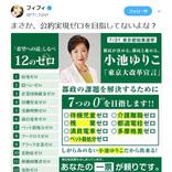選挙時の小池百合子知事「7つの0(ゼロ)を目指します!!」 フィフィさん「まさか、公約実現ゼロを目指してないよな?」