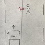 無理な横断をしようとする女性 大型トラックの運転手はとっさに?
