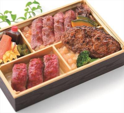 「白老牛4種贅沢弁当」3,240円 ☆1週目のみ 実演