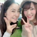 SKE48山内鈴蘭、馬場由美子プロと2ショット「私、ゴルフ頑張るからね!」