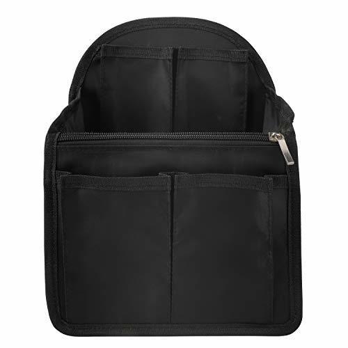 バッグインバッグ インナーバッグ 15ポケット Hombasis 大容量 軽量 C4収納整理 インナーバッグ インナーポケット 収納力抜群 仕分け デイパック・ザックに便利 メンズ レディース(ブラック A)