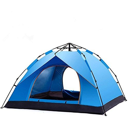 HUI LINGYANG 2-3人用 ワンタッチテント ドームテント キャンプ用品 設営簡単 防水・防雨・防風 高通気性 紫外線防止 登山 折りたたみ アウトドア 2色選択