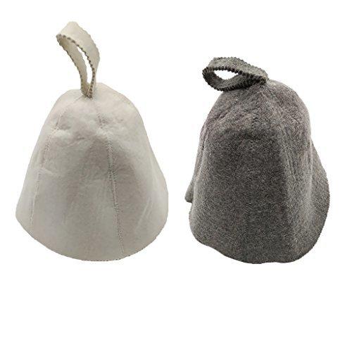 Homyl 帽子 熱保護 ウール 2個入り サウナ用 バニヤ スパ ユニセックス
