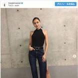 ベストジーニスト長谷川潤、露出した美脚に「足が3本あるのかと」の声