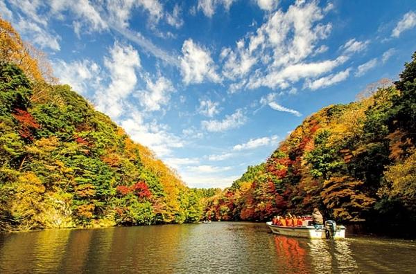 亀山湖 紅葉クルーズ