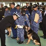 西日本豪雨で行方不明者を発見した警備犬、褒章状を授与! 副賞に「可愛い!」の声