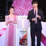 今田美桜&鈴木仁、『花晴れ』C5の2人がツリー点灯式に登場!