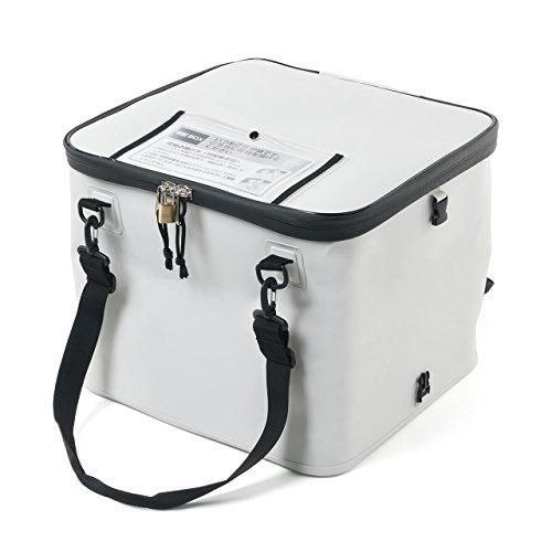 サンワダイレクト 宅配ボックス 簡易固定 折りたたみ可能 印鑑ケース付 盗難防止ワイヤー 鍵付 取っ手付 50リットル 302-DLBOX010