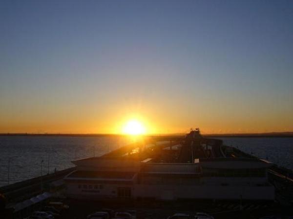 海ほたるから見る初日の出