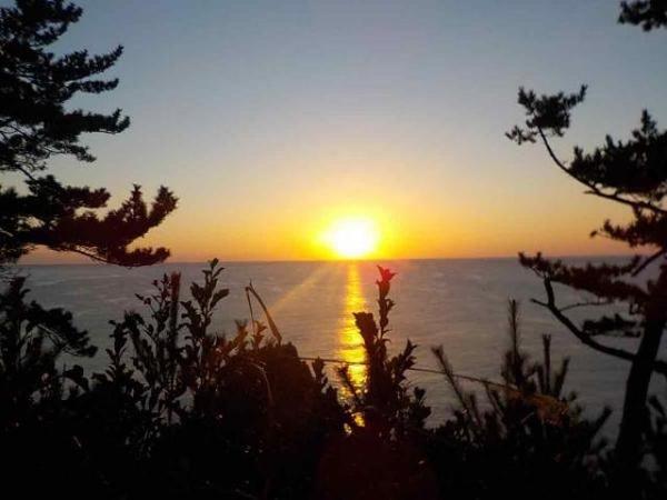 碁石海岸 初日の出