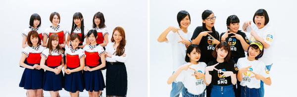 スタダGG!(スターダストプロモーション/写真左)と、teamSMQ(サンミュージックプロダクション/写真右)