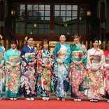 川栄李奈、飯豊まりえ… エイベックスを代表するタレント10名が晴れ着披露