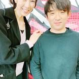大林素子、アルピー酒井と2ショットも顔が見切れ「やっぱりこうなったか(笑)」