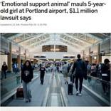 空港でセラピー犬・ピットブルに噛まれた女児、母親が飼い主や航空会社を訴える(米)