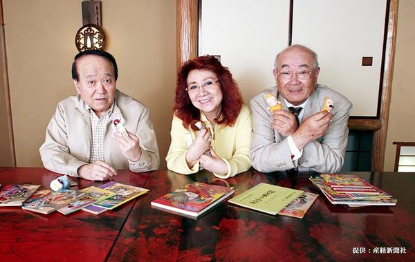 左から田の中勇、野沢雅子、大塚周夫 2006年