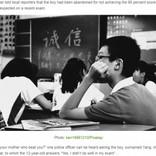 試験で81点をとった息子(12)を路上遺棄した母、警察に「できない子は要らない」引取り拒否(中国)