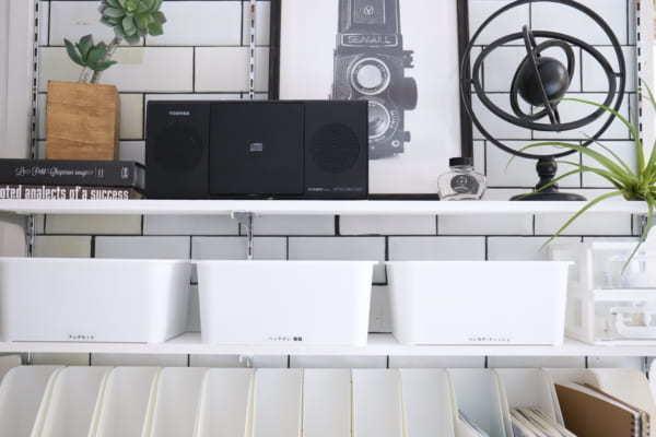 真っ白な収納アイテム その③フタ付プラボックス