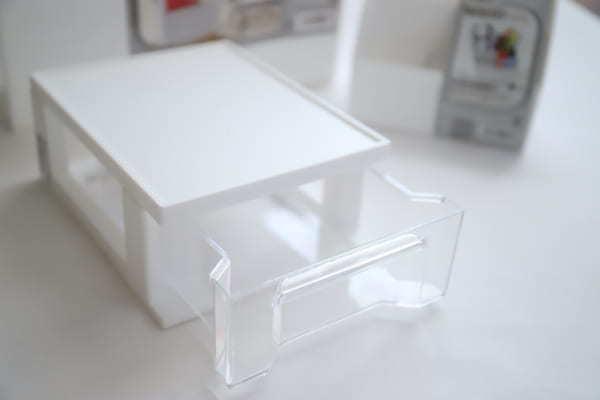 真っ白な収納アイテム その②デスクラボプルケース2