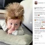 「本当に地毛?」 逆立つフサフサの髪をもつ生後4か月の男の子(豪)