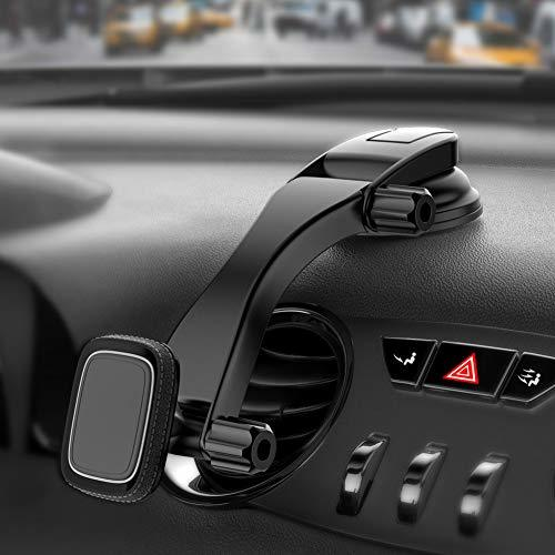 Miracase マグネット車載ホルダー 超強力磁気 スマホ タブレット 4-10.5インチに適用 調整可能 強力ゲル吸盤 一年間保証期間