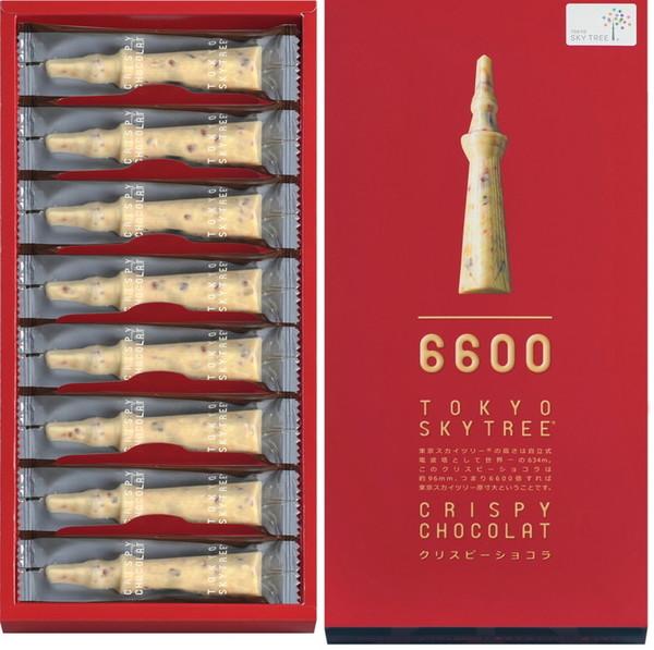 東京スカイツリー (R) クリスピーショコラ 8個入/540円