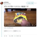 ポテチが食べられない動画が話題に「オチを見ても、頭が本物だと認識」「絵に描いたポテチ…」