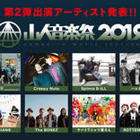 『山人音楽祭2019』にOAU、ROTTENGRAFFTY、The BONEZら出演