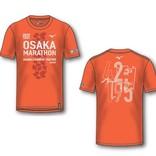 大阪マラソン組織委員会大阪マラソンの参加記念Tシャツのデザインを発表 前面はイチョウの葉、背面は新コースのマップ