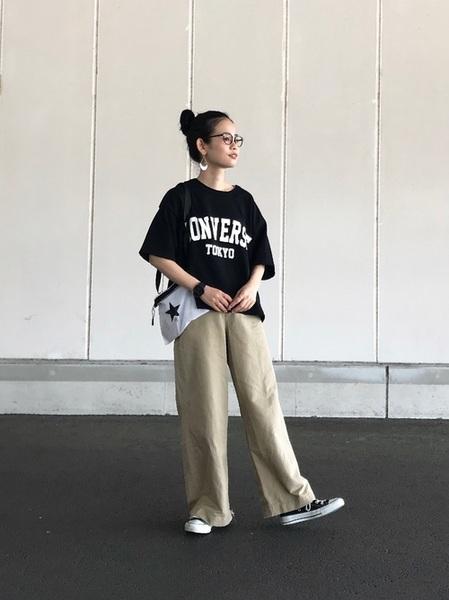 [CONVERSE TOKYO] CONVERSE TOKYO/コンバーストウキョウ リップナイロンサコッシュ【展開店舗限定】
