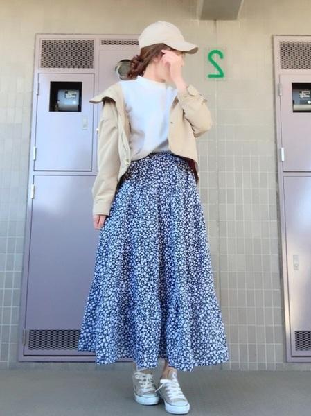 小花柄スカート5